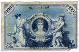 ALLEMAGNE, Billet De Banque République De Weimar - Reichsbanknote  Type 1922 - 100 Mark - [ 3] 1918-1933 : République De Weimar