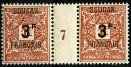 Soudan (1927) Millesime 7 Taxe N°8 * (charniere) - Soudan (1894-1902)