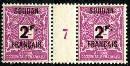 Soudan (1927) Millesime 7 Taxe N°9 ** (Luxe) - Soudan (1894-1902)