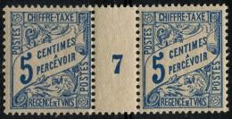 Tunisie (1900) Millesime 7 Taxe N° 28 * (charniere) - Tunisie (1888-1955)