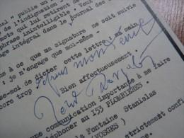 Roland DORGELES (1885-1973) Journaliste & écrivain. Membre Académie Goncourt. -  AUTOGRAPHE - Autographes