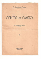 Figueira Da Foz - Cantar De Amigo (Livro Autografado Pelo Autor) - VIII Congresso Beirão, 1948. Coimbra. - Livres, BD, Revues