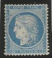 France - Cérès Siège De Paris - N°37 Bleu - Obl. Losange Petits Chiffres