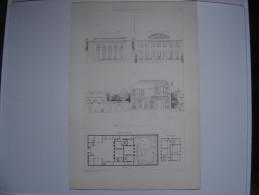 KRAFFT RANSONNETTE XIXe House Castle PARIS Maison Jarnac Rue De Monsieur Batie En 1788 Par Legrand 30X44 Cm - Architettura