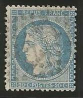 France - Cérès Siège De Paris - N°37 Bleu - Obl. GC 4277 LA VILLETTE