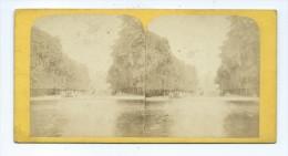 Vues Stéréoscopiques Photo Sur Carton - Paris Jardin Des Tuileries - Photos Stéréoscopiques