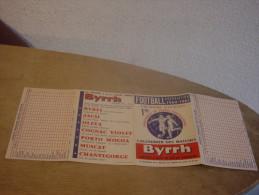 BYRRH - FOOTBALL ASSOCIATION - PREMIERE DIVISION -1960 1961 - Advertising