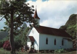 Iles Marquises - L'église Sainte-Thérèse à Hakahetau Ua Pou - Polinesia Francese