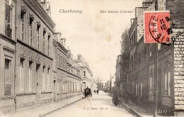 CPA  -   CHERBOURG    (50)    Rue Amiral Courbet - Cherbourg