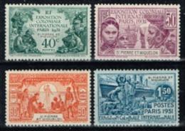 Saint-Pierre Et Miquelon - 1931 - N°132 à 135, MLH, Neufs Avec Traces De Charnières - St.Pierre & Miquelon