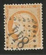 France - Cérès Siège De Paris - N°38a Jaune-orange - Obl. GC 844 CHALON-SUR-MARNE