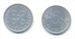 FINLANDIA  5 PENNIA  ANNO 1977 - Finlandia