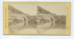Vues Stéréoscopiques Photo Sur Carton - Pont De Bétharram - Photos Stéréoscopiques