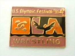 Pin´s  LUTTE - U.S OLYMPIC FESTIVAL - Lutte