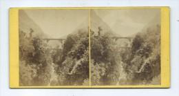 Vues Stéréoscopiques Photo Sur Carton - Pont De Scia Saint-Sauveur - Photos Stéréoscopiques