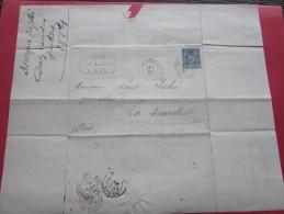 5 Mai 1884 Connaissement Lettre Facture à En-tête V.Péés DAX 40 Timbre Type Sage 15c Louis  Iché Port-La-Nouvelle Aude - 1877-1920: Période Semi Moderne