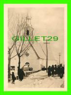 ILE D'ORLÉANS, QUÉBEC - ÉGLISE DE SAINT-PIERRE DÉBUT DU 18e SIÈCLE - ANIMÉE  - MONTMINY & CIE - - Quebec