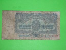 R!,Czechoslovakia,Ceskoslovenske 3 Korune,banknote,paper Money,bill,geld,vintage - Tchécoslovaquie