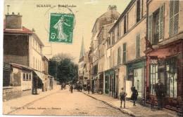 92 Sceaux Rue Houdan Animée Colorisée - Sceaux