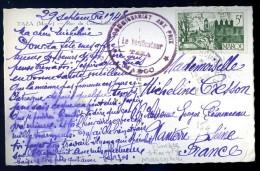 Cpa Maroc Taza Rue Giraud  Avec Cachet Marcophilie Du Maroc Commissariat Aux Prix Le Vérificateur Taza PZ7 - Maroc (1891-1956)