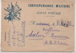 Correspondance Militaire - Carte Postale - Drapeaux - FM  (73787) - Guerra 1914-18