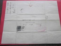 LYON Le 31 Mars 1884 Connaissement Lettre Facture En-tête Tissus Végétaux Lyonnais Timbre Sage L. Iché Port-La-Nouvelle - 1877-1920: Période Semi Moderne
