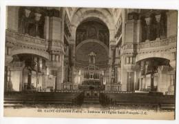 Ref 194 - SAINT-ETIENNE - Intérieur De L'église Saint-François (1930) - Saint Etienne