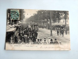 Carte Postale Ancienne : BORDEAUX BASTIDE : L' Avenue Thiers , Foiule , Tramway , En 1904 - Bordeaux