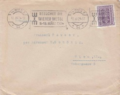 Österreich 1924 - 1000 Kronen Auf Brief Gel.n.Wien XX WIM Sonderstempel - Cartas