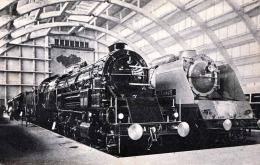 Antwerpen Les Locomotives Francaises Karte Gel.mit Sondermarke 1935 - Eisenbahnen