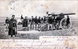 K.u.K. Österreich Übung Bei Der 12 Cm Kanone Karte Gel.1902 - Manöver