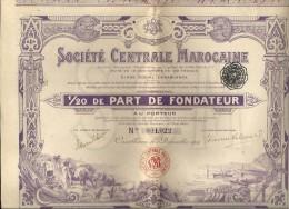 SOCIETE CENTRALE MAROCAINE - Afrique
