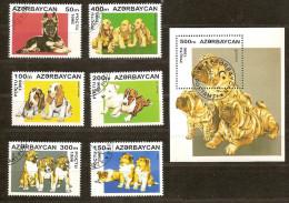 Azerbaïdjan Azerbeidjan 1996 Yvertn° 261-66 Et Bloc 20 (°) Used Cote 7,50 Euro Faune - Azerbaïdjan