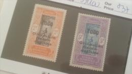 LOT 234342 TIMBRE DE COLONIE TOGO NEUF* N�99/100 VALEUR 37 EUROS
