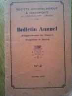Sociétè Archéologique & Historique De L'arrondissement D'Avesnes - Bulletin Annuel N°2 - - Archäologie
