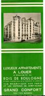 Publicité Immobilière Paris 25 Avenue De Lamballe Bois De Boulogne Vers 1930 - Pubblicitari