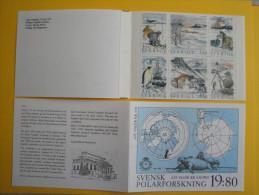 Suède 1989  -1535/1540 Carnet C1535 **  Recherche Polaire - Scott 1754a  - Facit H397 - Polar Exploration - Carnets