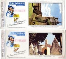 2 BUVARD  -  FLAN  LYONNAIS  Entremets -  Chapelle Ste Anne à St Tropez -  Chateau De Chinon, Tour De L'horloge. - Carte Assorbenti