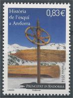 Andorra (French Adm.), History Of Skiing, 2014, MNH VF - French Andorra