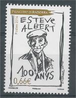 Andorra (French Adm.), Esteve Albert, Andorran Poet 2014, MNH VF - Andorre Français