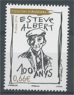Andorra (French Adm.), Esteve Albert, Andorran Poet 2014, MNH VF - Unused Stamps