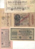 REICHBANKNOTES 10 DIFFERENT ORIGINALS - [ 3] 1918-1933: Weimarrepubliek