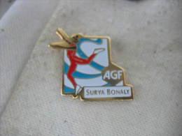Pin´s De La Patineuse SURYA BONALY Avec AGF - Skating (Figure)