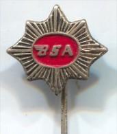 Motorbikes, Motorcycle - BSA, England, Pin, Old Badge - Motos