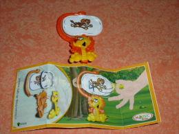 KINDER MIXART LION AVEC UNE PANCARTE FF058  + BPZ - Montabili