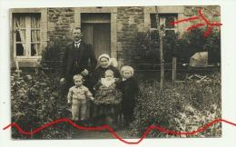 Carte Photo SAINT CARREUC Famille D´Eugénie Coiffe Enfants Landau - Frankrijk