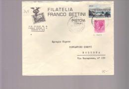 2889-Da Pistoia A Bologna 14/5/1954-Siracusa Fil.ruota Con L.12 Turistica-rara Affrancatura Nel Periodo - 6. 1946-.. Republic
