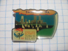 USA.  Sydney 2000. Olympic Torch Ralay. Swan Lake WA. Photo-etched Enamel + Poly Dome. - Olympic Games