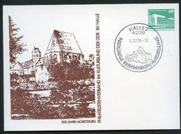 AUSSTELLUNG MORITZBURG HALLE DDR PP18 B2/013 Privat-Postkarte Sost.1984  NGK 5,00 € - Philatelic Exhibitions