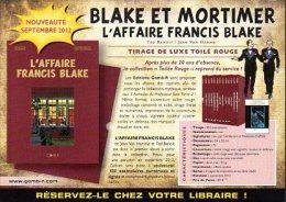 "Flyer Pub. ""Blake Et Mortimer - L'Affaire Francis Blake"" - Ted Benoit - Jean Van Hamme - Blake Et Mortimer"